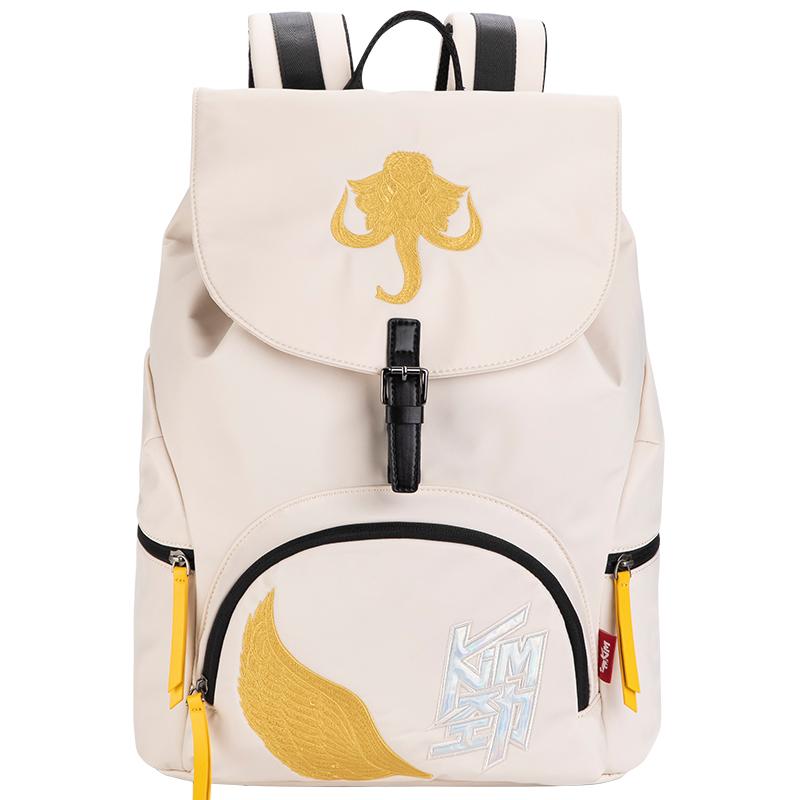 爱华仕劲时尚刺绣双肩包14英寸电脑隔层